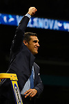 SAN ANTONIO, TX - APRIL 02: Head coach Jay Wright of the Villanova Wildcats celebrates after the 2018 NCAA Men's Final Four National Championship game against the Michigan Wolverines at the Alamodome on April 2, 2018 in San Antonio, Texas.  (Photo by Chris Steppig/NCAA Photos via Getty Images)