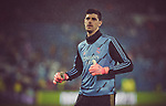 Real Madrid CF's Tibaut Courtois warms up before La Liga match. Mar 01, 2020. (ALTERPHOTOS/Manu R.B.)