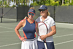 WESTON, FL - DECEMBER 08: Martina Navratilova (R), former Czechoslovak and American professional tennis player and coach and Elizabeth Signore playing at Midtown Athletic Club Weston on December 08, 2018 in Weston, Florida. ( Photo by Johnny Louis / jlnphotography.com )