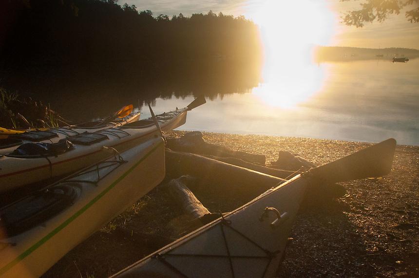 Morning Sun at Reid Harbor, Stuart Island, Washngton, US