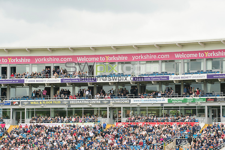 Picture by Allan McKenzie/SWpix.com - 21/05/2016 - Cricket - 2nd Investec Test - England v Sri Lanka - Headingley Cricket Ground, Leeds, England -  The brief, East Stand, Welcome to Yorkshire, branding.