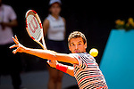 The tennis player Grigor Dimitrov during the match against Thomas Berdych in the Madrid Open Tennis Tournament. In Madrid, Spain, on 08/05/2014.