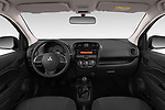 Stock photo of straight dashboard view of a 2019 Mitsubishi Space Star In 5 Door Hatchback