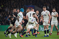 Twickenham, United Kingdom, Saturday, 10th  November 2018, RFU, Rugby, Stadium, England, Elliot DALY, attcking through the midfield during the  Quilter, Autumn International, England vs New Zealand © Peter Spurrier