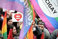 Roma, 5 Marzo 2016<br /> Manifestazione lgbt in Piazza del Popolo per i diritti civili per tutti e tutte, per il matrimonio equalitario e l'adozione