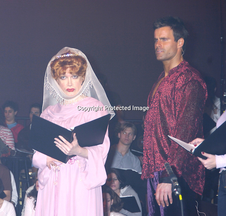 "Charles Busch, Cameron Mathison..at a performance of ""Pippin"" A Concert to Benefit The National Aids Fund and The Storm Theatre on November 29, 2004 at The Manhattan Center's Grand Ballroom...PHoto by Robin Platzer, Twin Images"