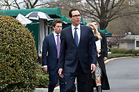 United States Secretary of the Treasury Steven T. Mnuchin Holds a News Conference