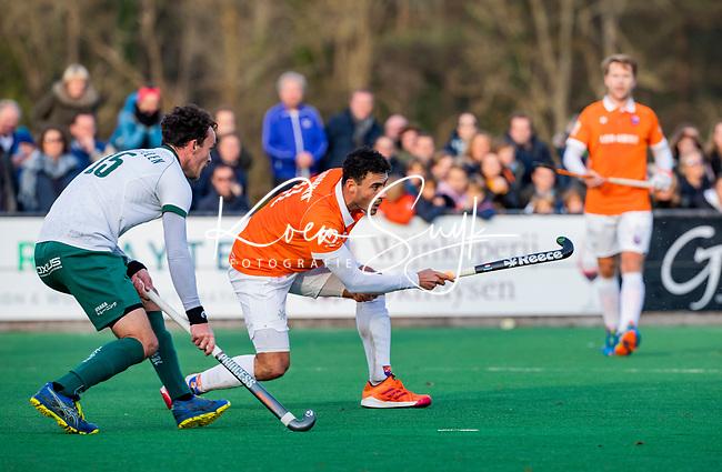 BLOEMENDAAL - Glenn Schuurman (Bldaal) tijdens  hoofdklasse competitiewedstrijd  heren , Bloemendaal-Rotterdam (1-1) .COPYRIGHT KOEN SUYK