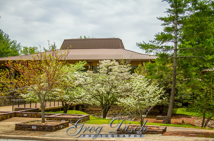 The visitor center at Blanchard Springs Caverns near Mountain View Arkansas.