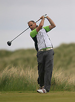 David Lally (Mullingar)<br /> during R1 of the East of Ireland Amateur Open championship 2013 at Co Louth Golf club, 1/6/13<br /> Picture:  Thos Caffrey / www.golffile.ie