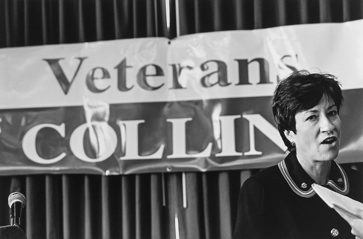 Susan Collins, R-Maine, campaigning for Senate. 1996 (Photo by Maureen Keating/CQ Roll Call via Getty Images)