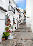Houses in the village of Capileira, High Alpujarras, Sierra Nevada, Granada province, Spain