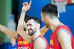 Joan Sastre laughes during the training of Spanish National Team of Basketball. August 07, 2019. (ALTERPHOTOS/Francis González)