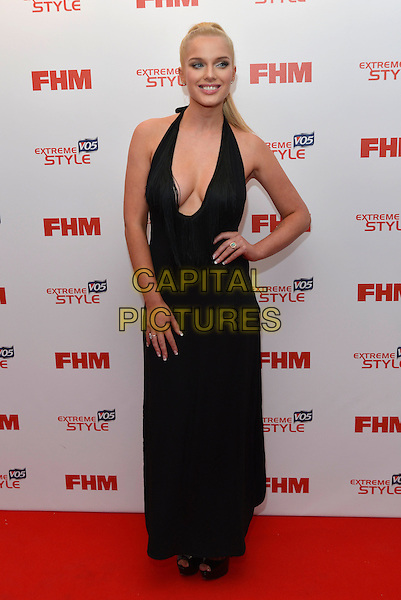 Helen Flanagan.FHM 100 Sexiest Women in the World party, The Sanderson Hotel, London, England 1st May 2013.full length black dress plunging neckline cleavage hand on hip  .CAP/PL.©Phil Loftus/Capital Pictures