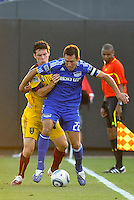 Davy Arnaud #22, Will Johnson...Kansas City Wizards and Real Salt Lake played to a 1-1 tie at Community America Ballpark, Kansas City, Kansas.