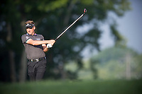 Ian Poulter follows his approach into the 10th green during the opening round of the US PGA Championship at Valhalla (Photo: Anthony Powter) Picture: Anthony Powter / www.golffile.ie