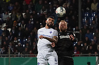 Victor Palsson (SV Darmstadt 98) gegen Philipp Hofmann (Karlsruher SC) - 29.10.2019: SV Darmstadt 98 vs. Karlsruher SC, Stadion am Boellenfalltor, 2. Runde DFB-Pokal<br /> DISCLAIMER: <br /> DFL regulations prohibit any use of photographs as image sequences and/or quasi-video.