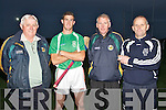 Selectors and trainers wishing the capts of the Ballyduff senior hurling team all the best for the final on Tuesday evening at Ballyduff GAA Pitch, l-r: Patrick O'Connor (secector), Padraig O'Grady (capt), Mike Enright (selector) and Jerry Wallace (Trainer)..........