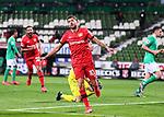 Jubel 1:4: Torschuetze Kerem Demirbay (Leverkusen).<br /><br />Sport: Fussball: 1. Bundesliga: Saison 19/20: 26. Spieltag: SV Werder Bremen - Bayer 04 Leverkusen, 18.05.2020<br /><br />Foto: Marvin Ibo GŸngšr/GES /Pool / via gumzmedia / nordphoto