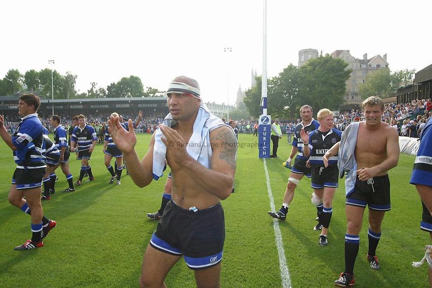 Photo: Jo Caird.Bath v Northampton.Zurich Premiership 2003/4.20/09/2003....Brendon Daniel