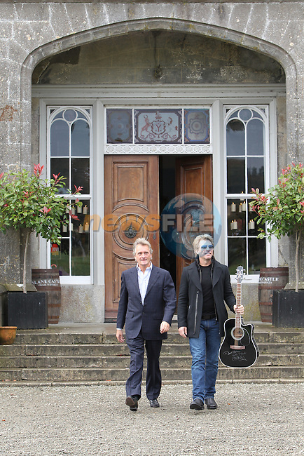 Lord Henry MT Charles with Jon Bon Jovi at the announcement that 15 June, Bon Jovi are to headline Slane 2013.Picture: Fran Caffrey/www.newsfile.ie.
