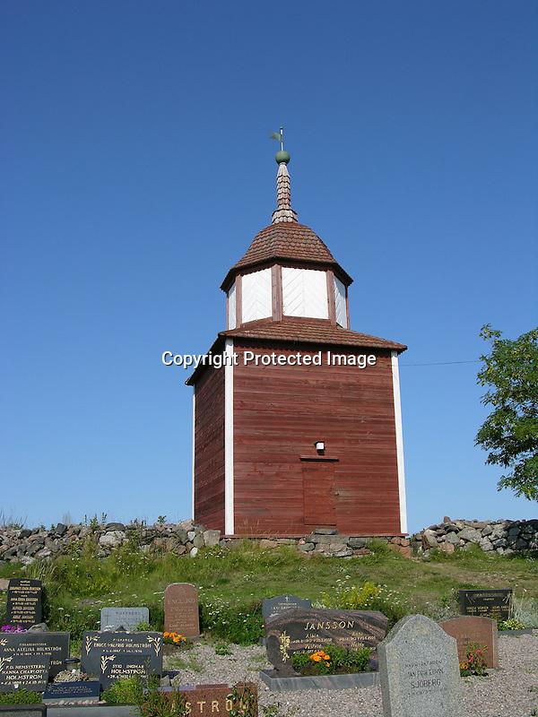 Bell Tower on Island of Kökar, Åland, Finland