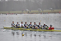 001 Pangbourne Coll SEN.8+.Marlow Regatta Committee Thames Valley Trial Head. 1900m at Dorney Lake/Eton College Rowing Centre, Dorney, Buckinghamshire. Sunday 29 January 2012. Run over three divisions.