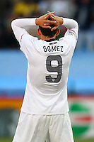 Herculez Gomez of USA. USA defeated Algeria 1-0 in stoppage time in the 2010 FIFA World Cup at Loftus Versfeld Stadium in Pretoria, Sourth Africa, on June 23th, 2010.