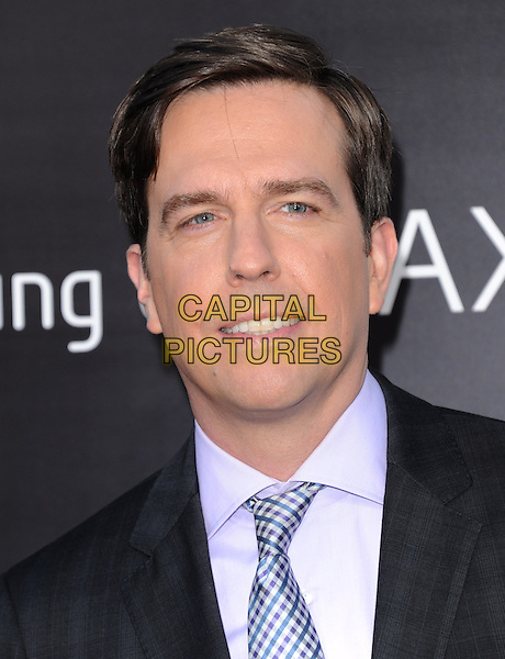 "Ed Helms.""The Hangover Part III"" Los Angeles Premiere held at the Westwood Village Theater, Los Angeles, California, USA..May 20th, 2013.headshot portrait blue black suit blue shirt tie                  .CAP/DVS.©DVS/Capital Pictures"