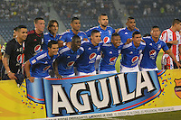 BARRANQUILLA- COLOMBIA -02-06-2016: Los jugadores de Millonarios, posan para una foto, durante partido de ida de los cuartos de final entre Atletico Junior y Millonarios de la Liga Aguila I-2016, jugado en el estadio Metropolitano Roberto Melendez de la ciudad de Barranquilla. / The players of Millonarios, pose for a photo, during a match between Atletico Junior and Cortulua, for date 19 of the Liga Aguila I-2016 at the Metropolitano Roberto Melendez Stadium in Barranquilla city, Photo: VizzorImage  / Alfonso Cervantes / Cont.