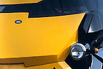 Land Rover 101 based futuristic taxi for the 1995 David Cannon action movie Judge Dredd starring Silvester Stallone. NO RELEASES AVAILABLE. Automotive trademarks are the property of the trademark holder, authorization may be needed for some uses. --- Info: The 31 driveable futuristic taxis used in the film were based on ex-army Land Rover 101 Forward Control vehicles and put together by Dunsfold Landrovers with new fibre-glass body shells designed by David Woodhouse.