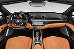 Stock photo of straight dashboard view of a 2019 Ferrari Portofino base 2 Door Convertible