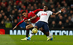 Tottenham Hotspur's Serge Aurier (R) battles for the ball with Manchester United's Mason Greenwood during the Premier League match at Old Trafford, Manchester. Picture date: 4th December 2019. Picture credit should read: Darren Staples/Sportimage