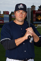 Scranton Wilkes-Barre Yankees outfielder Jack Cust poses for a photo during media day at Frontier Field on April 3, 2012 in Rochester, New York.  (Mike Janes/Four Seam Images)