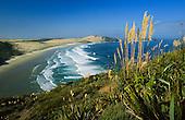 Te Werahi beach and Cape Maria Van Diemen near Cape Reinga, Far North. Northland, New Zealand.
