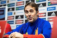 Training of the spanish football team
