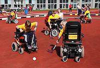 E-hockey wedstrijd tijdens de Johan Cruyff Foundation Dag in het Olympisch Stadion