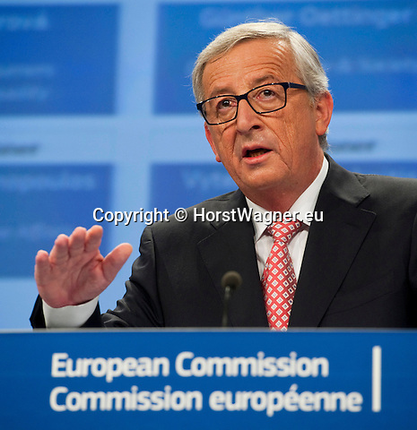 Belgium, Brussels - September 10, 2014 -- Press conference by Jean-Claude JUNCKER, President-elect of the upcoming European Commission, to announce the attribution of portfolios to the Commissioners-designate; at the HQ of the EC -- Photo © HorstWagner.eu