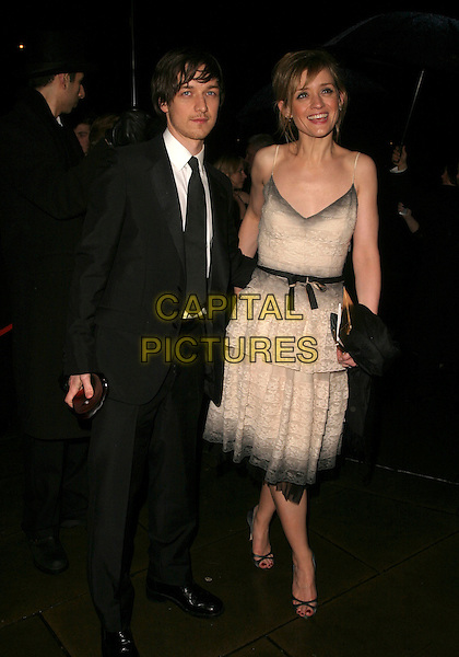 JAMES McAVOY & ANNE-MARIE DUFF.The Orange British Academy Film Awards aftershow & Grosvenor House Hotel, London, UK..February 19th, 2006.Ref: AH.full length black suit cream dress.www.capitalpictures.com.sales@capitalpictures.com.© Capital Pictures.
