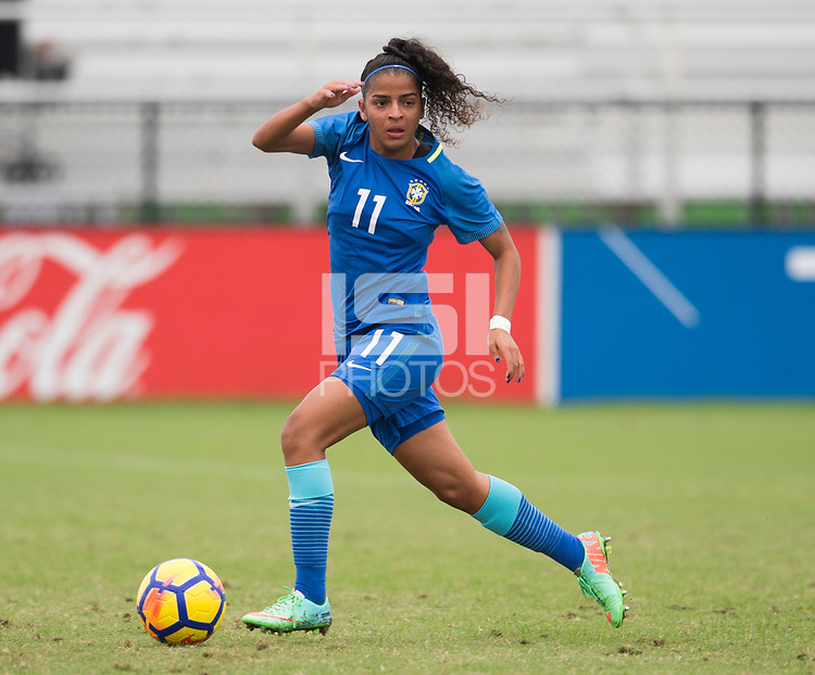 Lakewood Ranch, FL - December 9, 2017: The U20 England defeated Brazil, 1-0, during the Nike International Friendlies at Premier Sports Campus.
