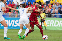 England's Lucy Bronze and Spain's Vicky Losada during the frendly match between woman teams of  Spain and England at Fernando Escartin Stadium in Guadalajara, Spain. October 25, 2016. (ALTERPHOTOS/Rodrigo Jimenez) /NORTEPHOTO.COM