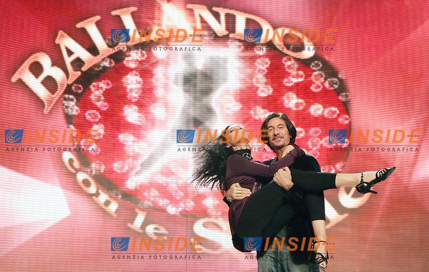 Tinna Hoffmann e Stefano Pantano..RAI - Presentazione del programma televisivo BALLANDO CON LE STELLE..Roma, 8 Gennaio 2010..Photo Serena Cremaschi Insidefoto