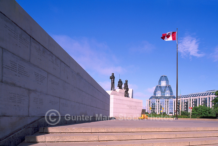 'Reconciliation: The Peacekeeping Monument' (1992) (Artist: Jack Harman), in the City of Ottawa, Ontario, Canada - National Gallery of Canada in Background