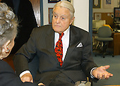 R. Sargent Shriver is photographed in his office in Washington, D.C. on February 26, 2004 during an interview with journalist Trude Feldman.  Shriver passed away on Tuesday, January 18, 2011 at the age of 95..Credit: Ron Sachs / CNP