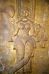 Female goddess figure Gangaramaya Temple, Colombo, Sri Lanka,