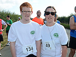 Daire Moore and Sinead Donnelly who took part in the Duleek 10K run. Photo:Colin Bell/pressphotos.ie