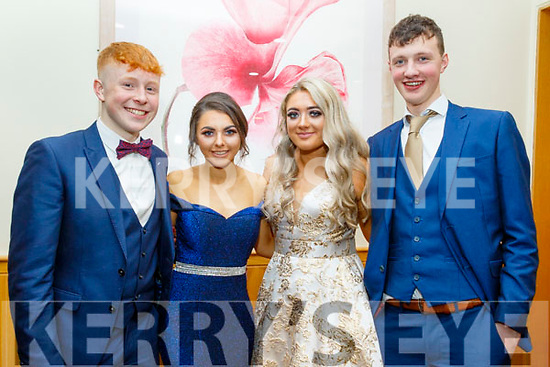 L-R Bryan Daly, Caoimhe Horgan, Ava Flaherty and Seán O'Connor  at the Presentation Secondary school Castleisland Debs last Friday night in the Ballyroe heights Hotel, Tralee.