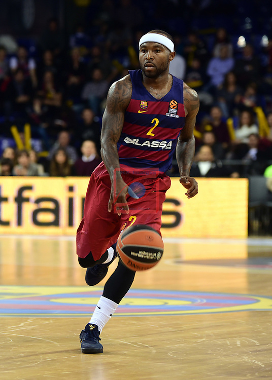 Turkish Airlines Euroleague 2016/2017.<br /> Regular Season - Round 22.<br /> FC Barcelona Lassa vs Galatasaray Odeabank Istanbul: 62-69.<br /> Tyrese Rice.