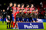 Atletico de Madrid squad pose for team photo during the La Liga 2018-19 match between Atletico de Madrid and Real Sociedad at Wanda Metropolitano on October 27 2018 in Madrid, Spain.  Photo by Diego Souto / Power Sport Images