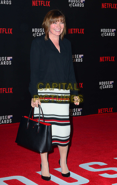 LONDON, UK: FEB 26: Lorraine Kelly at the House Of Cards premiere of third series of Netflix's critically-acclaimed political drama based on the British book and 1990s TV series. London, England, February 26th, 2015.<br />  CAP/JOR<br /> &copy;Nils Jorgensen/Capital Pictures